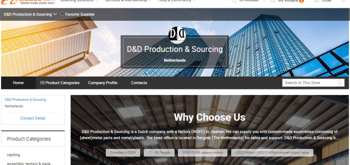 minisite D&D Production & Sourcing